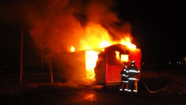 Bell Island RCMP say a shed and its contents were completely destroyed in a suspicious fire in the community early Thursday morning.