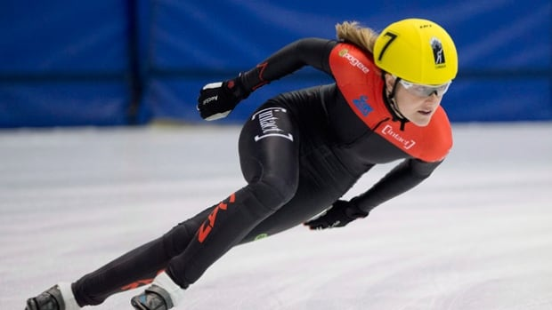 Jessica Gregg, seen here warming up before a 2014 national championship race, announced her retirement Thursday. The 27-year-old helped the Canadian short track 3,000m team to a silver medal at the Vancouver Olympics.