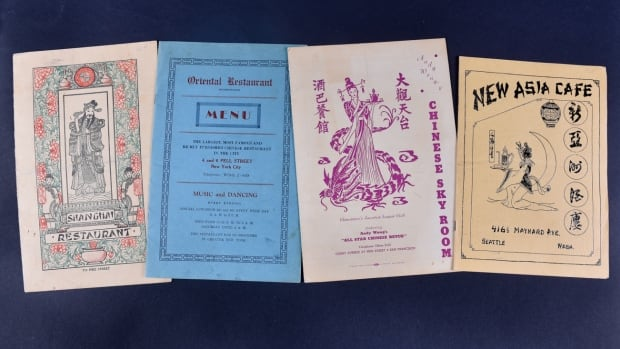 A selection of Chinese restaurant menus taken from a collection of 10,000, that was recently acquired by the University of Toronto.