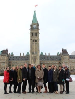 Jane Glassco Fellows on Parliament Hill