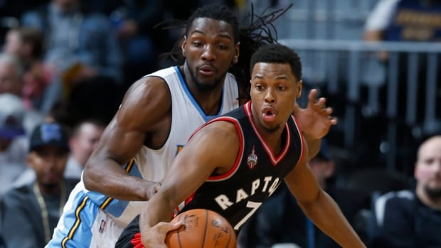 Toronto Raptors guard Kyle Lowry, front, will attempt to become the fourth player in team history to win an event at the NBA All-Star Game.