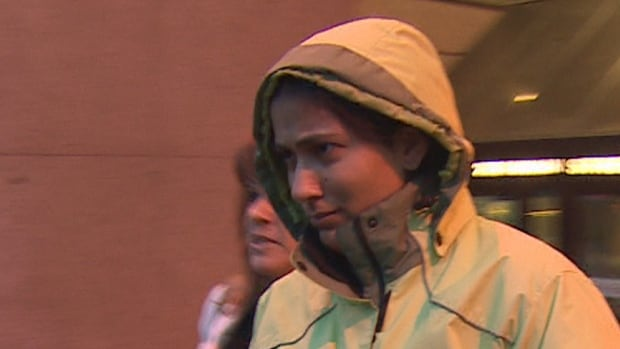 High-risk offender Kayla Bourque leaves court after being granted unsupervised community visits.