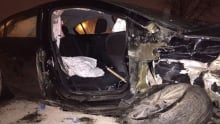 Regina crash destroys car