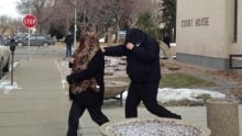 Tammy and Kevin Goforth leave the courthouse