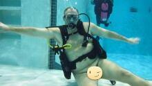 Naked scuba