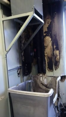 Damage from fire at Northside General Hospital