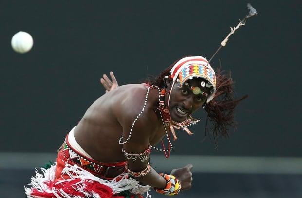 APTOPIX Australia Maasai Cricket Warriors