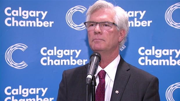 Natural Resources Minister Jim Carr did a question and answer session at the Calgary Chamber of Commerce breakfast on Friday morning.