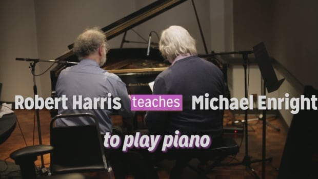 Michael Enright and Robert Harris at piano