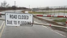 Truro road closure, flooding