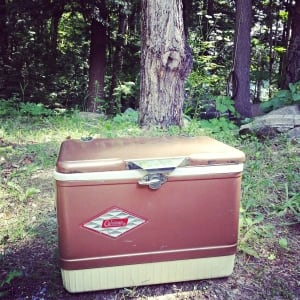 Retro camp cooler