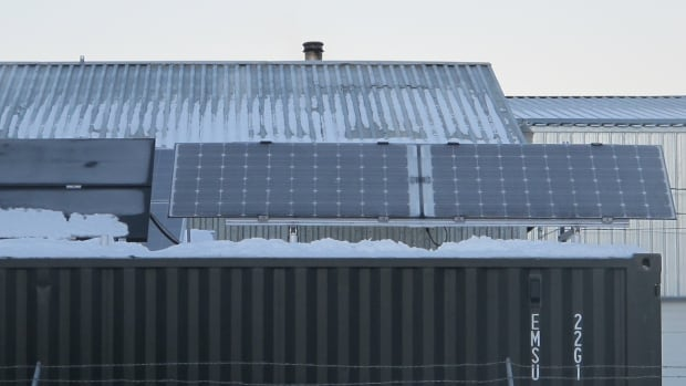 Bi-facial monocrystalline modules, one of four types of solar technology being compared by Yukon researchers. These panels allow cells to collect light on both sides.