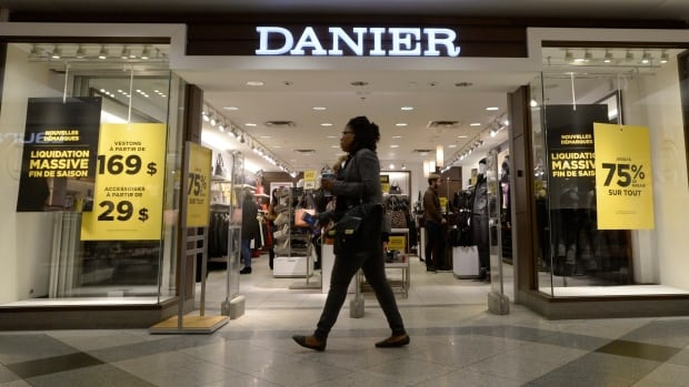 Danier is currently liquidating its inventory at its remaining 76 stores across Canada.