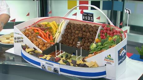 Vancouver chef creates replica Super Bowl stadium with food