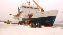 Northern Ranger in dock at Happy Valley-Goose Bay