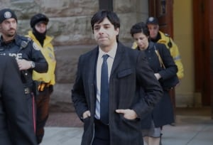 Jian Ghomeshi leaving court on Feb 5