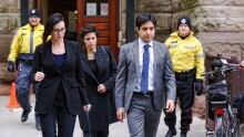 Ghomeshi and legal team leave court on Feb 5