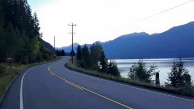 Highway 31 outside of Kaslo is a popular location with bikers and has been identified as a problem area for noise. (Rebecca Zandbergen/CBC)