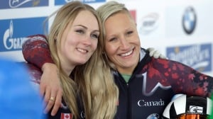 Kaillie Humphries keeps bobsleigh World Cup podium streak alive in St. Moritz
