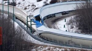 Calgary bobsled track accident