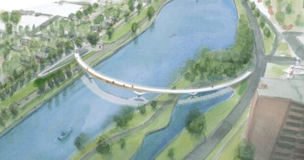 fifth clegg pedestrian bridge earlier design