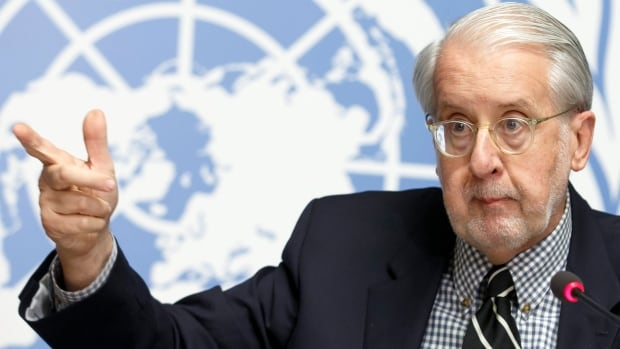 The UN's Paulo Pinheiro said in Geneva on Monday that there are reasonable grounds to believe that actions in Syria taken by the government, ISIS and Jabhat al-Nusra amount to crimes against humanity.