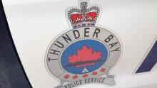 Thunder Bay police logo on cruiser