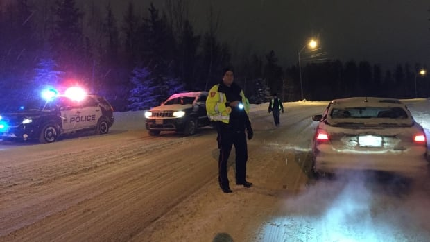 Thunder Bay police operated a R.I.D.E. program in the city during the Super Bowl football game, Sunday night.