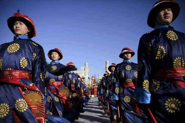 LUNAR-NEW YEAR  Qing Dynasty reenactment Beijing Feb 8 2016