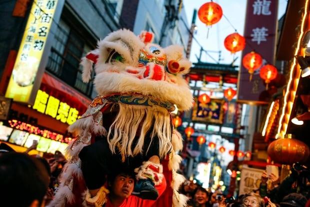 LUNAR-NEW YEAR Yokohama Japan dragon parade Feb 8 2016