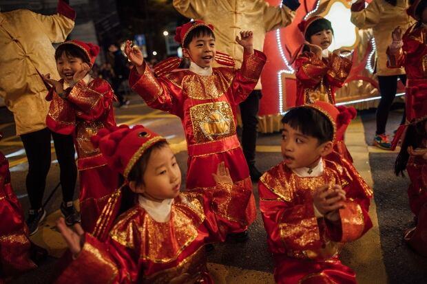 Lunar New Year parade Hong Kong 2016
