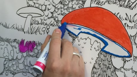 Interactive colouring mural brightens up B.C. Family Day
