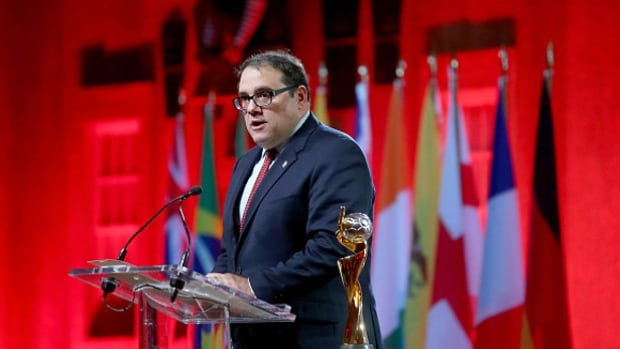Canadian Victor Montagliani is one of two candidates remaining for the presidency of CONCACAF. The organization's interim president was arrested in Switzerland this past December.