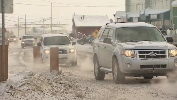 Traffic in Iqaluit. The Nunavut government is proposing updates to the Motor Vehicles Act to bring the territory up to speed with driving regulations for the rest of the country.