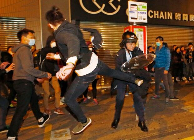 Hong Kong New Year Protest