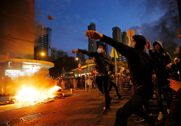APTOPIX Hong Kong Lunar New Year Protest