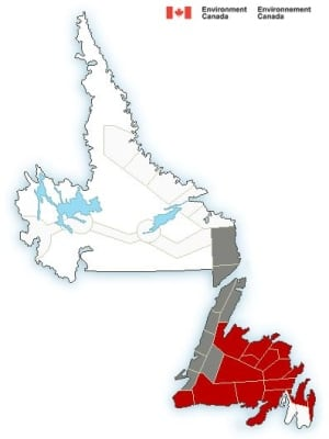 Environment Canada updated blizzard warnings Feb 9