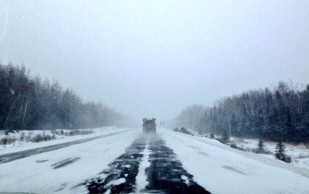 Winter storm TCH near Grand Falls Windsor