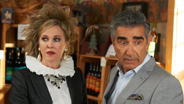 Catherine O'Hara and Eugene Levy in Season One of Schitt's Creek