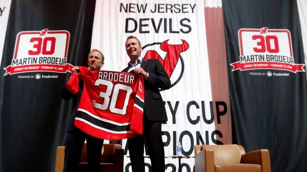 Former New Jersey Devils star goalie Martin Brodeur will have his number retired in a banner-raising ceremony on Tuesday night at the Prudential Center.