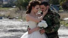 Syria wedding photographer shoots couple in war ravaged Homs Feb 5 2016