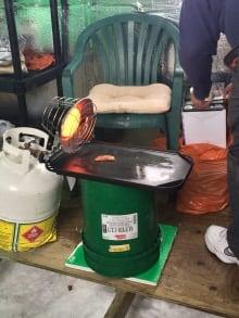 Joey Halldorsson's makeshift stove