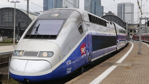A high-speed train is seen leaving a station in Europe, in this file photo. The Ontario government intends to bring high-speed rail to the Toronto-Windsor corridor.