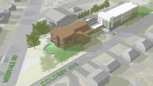 Proposed seniors affordable housing behind Carlington health centre