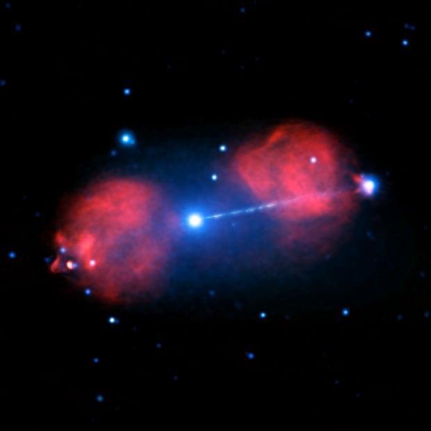 Blast from Black Hole in a Galaxy Far, Far Away