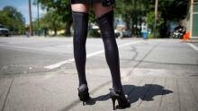 A woman's leg