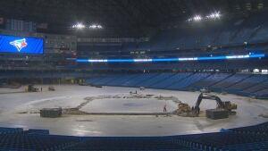 Rogers Centre construction dirt infield