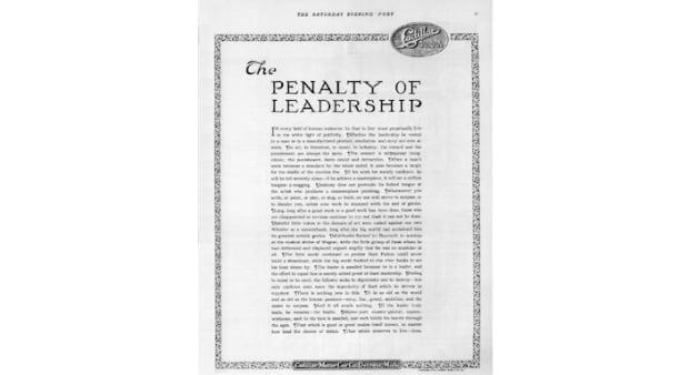 Penalty of Leadership