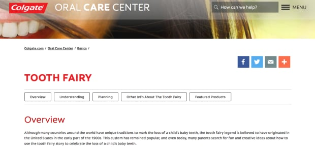 Colgate Oral Care - Tooth Fairy