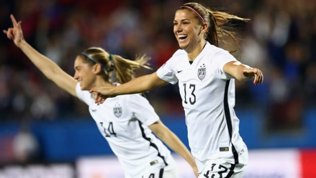 Alex Morgan of the U.S. women's national soccer team, No. 13, scored just 12 seconds into the Olympic qualifying match against Costa Rica, believed to be the fastest goal in U.S. soccer history. The U.S. rolled to a 5-0 win.